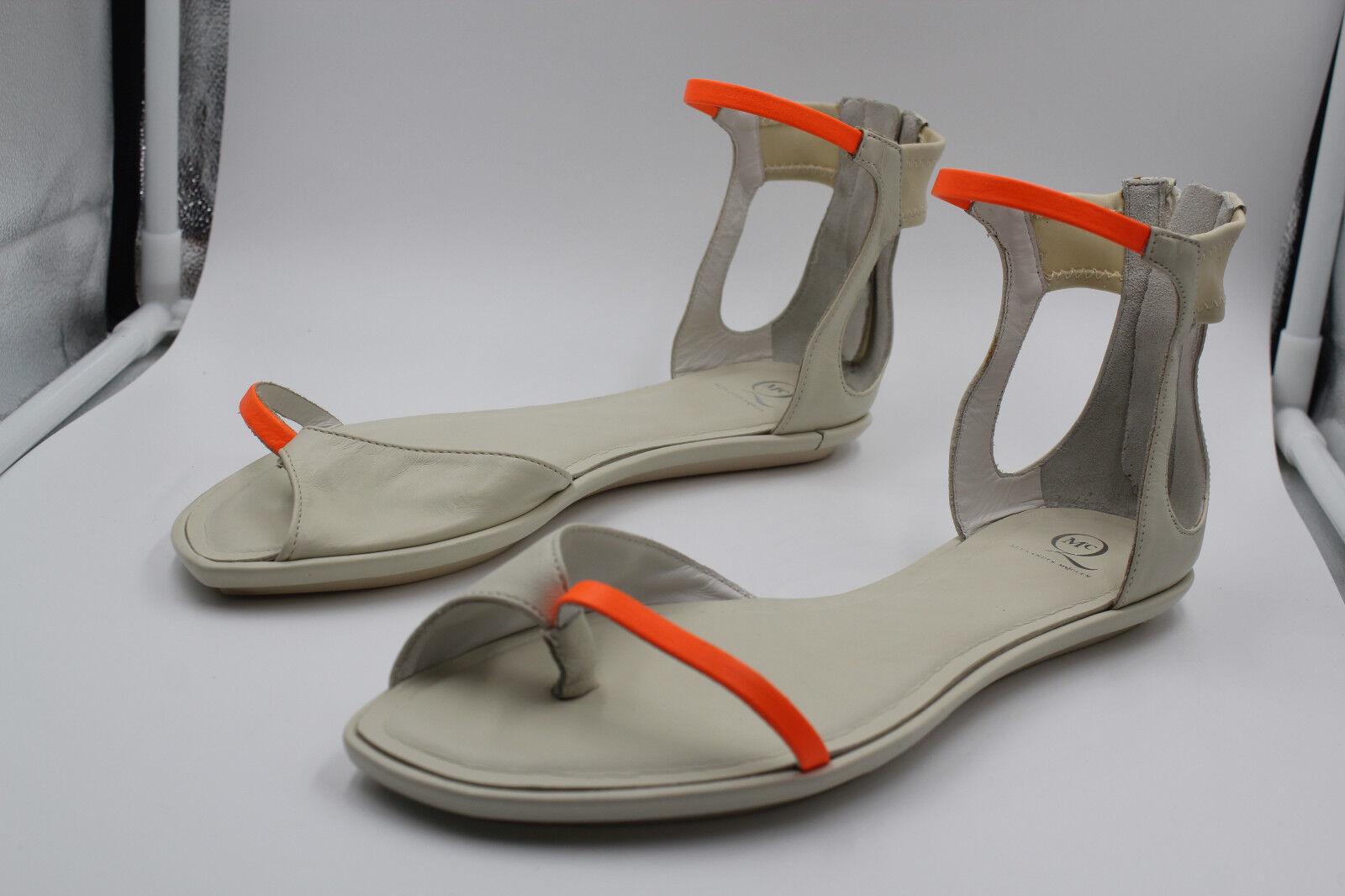 comprare sconti ALEXANDER MCQUEEN SANDALS scarpe WS005 NAPPA BONE IVORY IVORY IVORY Dimensione 6.5  vendita online risparmia il 70%