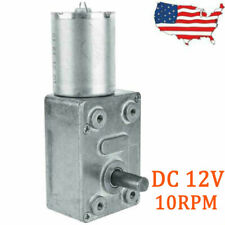 Output Torque Turbo Worm Shaft High Electric Geared Motor Low Dc 12v 10rpm