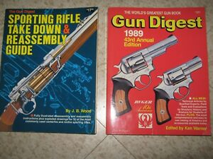 Gun-Digest-1989-478-pages-and-Sporting-Rifle-take-down-assembly-320-pages