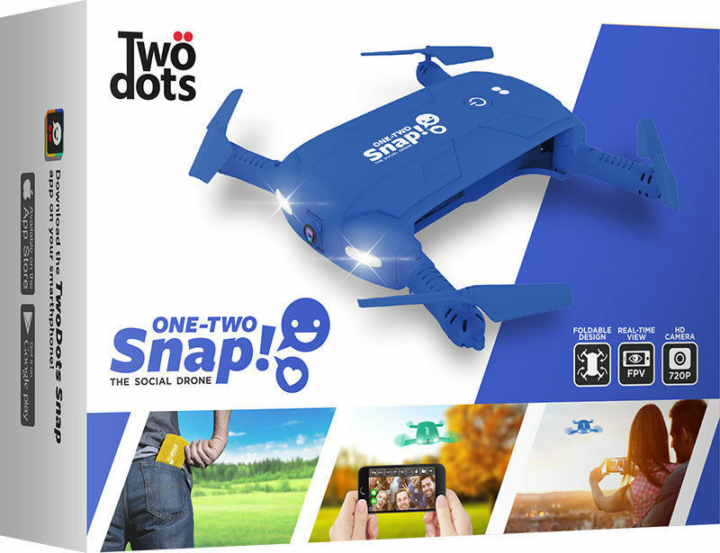 One two Snap The Social Drone Blu TWO DOTS