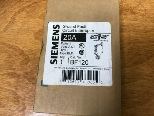 BRAND NEW SIEMENS BF120 TYPE BLF 20AMP BOLT-IN GFI BREAKER GFCI GROUND FAULT