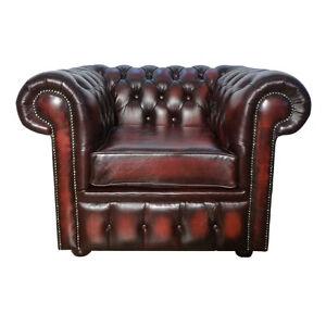 Poltrona-Chesterfield-100-Vera-Pelle-Rosso-Antico