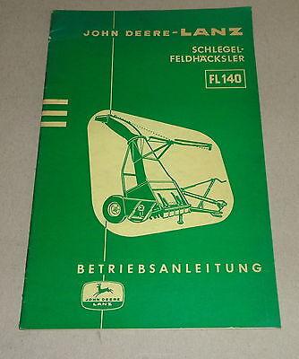 Industrial Active Operating Instructions Lanz Schlegel-feldhäcksler Fl 140-10/1961 Attractive And Durable