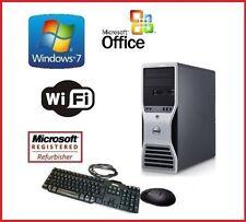 DELL PRECISION WINDOWS 7 XEON QUAD CORE 32GB RAM 2TB HDMI WIFI GAMING PC TOWER