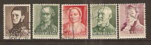 Nederland-392-396-zomerzegels-1941-gestempeld-USED