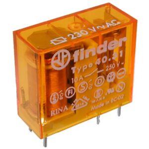 F4031-AC230-Steck-Relais-230V-1xUM-28kOhm-250V-10A-Finder-40-31-8-230-0000