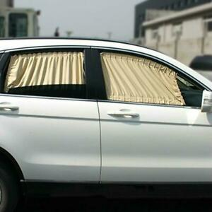 Universal-Car-Sun-Shade-Side-Window-Curtain-Foldable-UV-Protection-70-39S-Beige