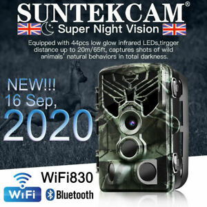 SUNTEK Trail Camera WiFi Bluetooth 20MP 1080P Outdoor Wildlife Hunting Game Cam