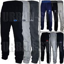 Mens Adidas Originals SPO Fleece Trefoil Tracksuit Pants Bottoms Grey/Black S-XL