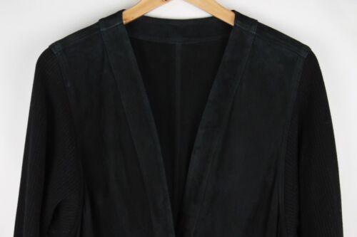 Bally en Gilet teinté long à cuir Italie châle noir daim col et 6 moderne 0HBPq