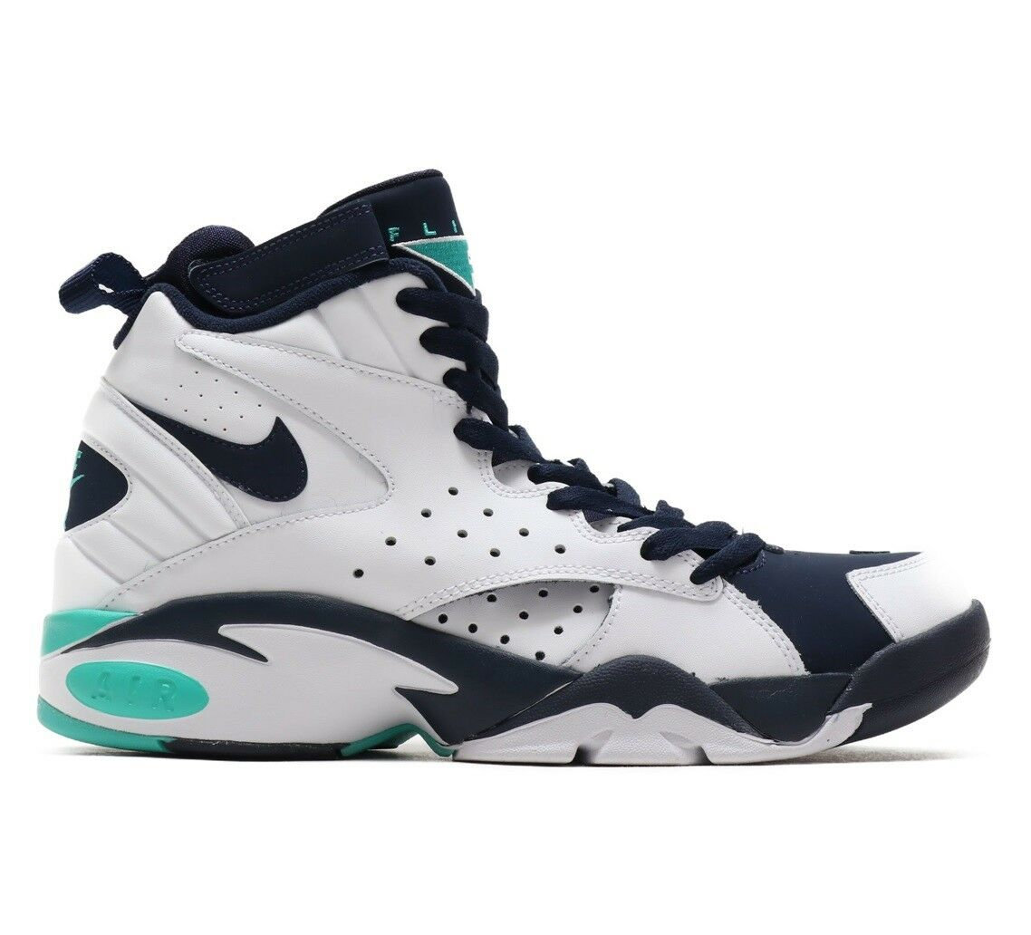 Nike Air Maestro II LTD Mens AH8511-100 Jade Obsidian Basketball Shoes Size 9.5