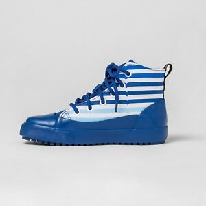 Hunter-for-Target-Kids-039-Striped-Dipped-Canvas-High-Top-Sneakers-Blue-Size-5-New