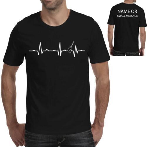 Heart Love Beat Electric Guitar Guitarist Funny Printed T shirt