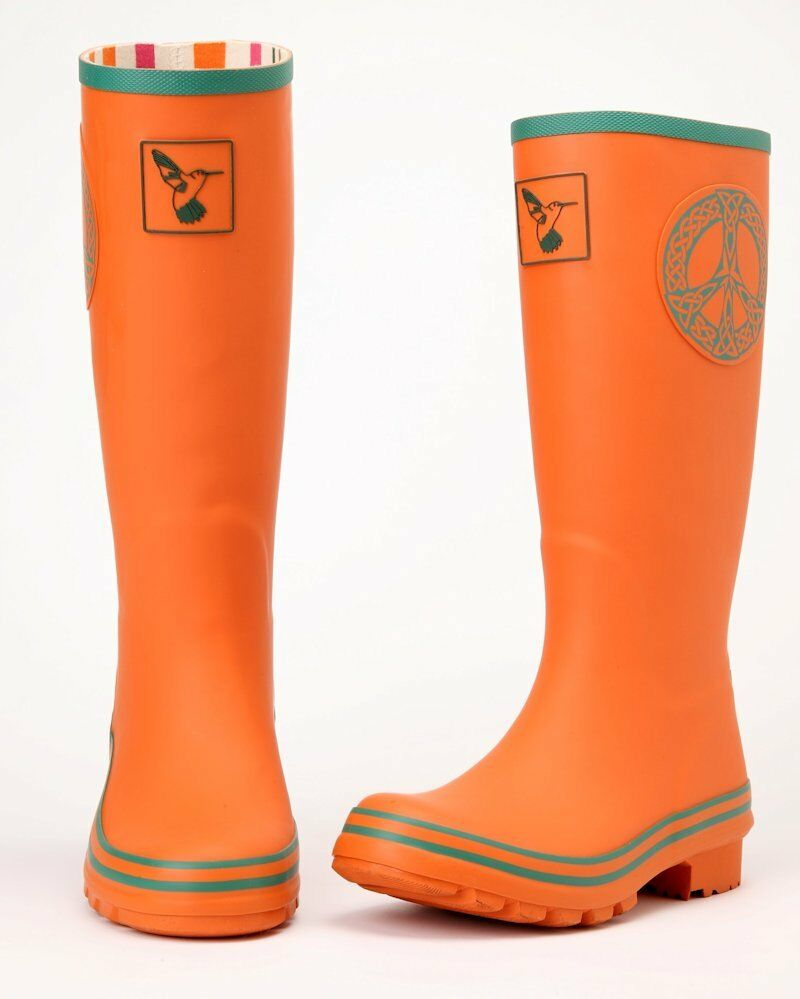 Ladies Evercreatures Wellies Peace Winter Boots Designer Rubber Wellingtons