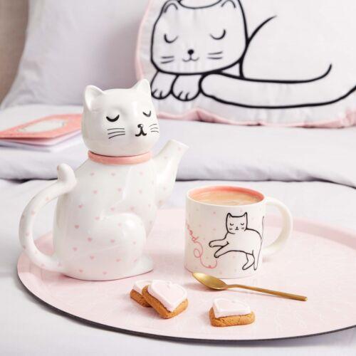 Cosy Chat Rose à Pois Coeur en Porcelaine Théière Home Decor cadeau Sass /& Belle New