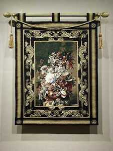 """Tapestry, MASTERPIECE FLORAL, W/ROD AND TASSEL, 33""""x 43"""", Made in USA"""
