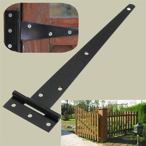 2 Pcs Iron Black Tee Hinge Cabinet Shed Heavy Duty Garden Door Gate Accessories