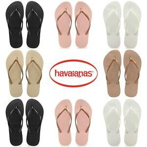Original-HAVAIANAS-Slim-Femme-Flip-Flops-Femmes-Ete-Plage-Chaussures-Taille-UK