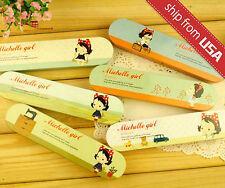 1 Korean Stationery Michelle Girl Kawaii Metal Pencil Case Tin box Cute Kawaii