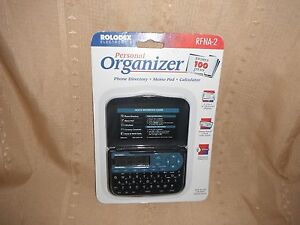rolodex electronics personal organizer rfna-2 new in package 2 line 12 chara