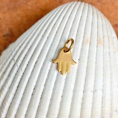 Handmade 24 Karat Gold Plated Drop Earrings with Matte Gold Hamsa Charm