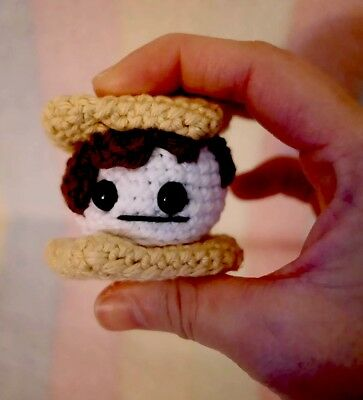 Smores Stuffed Animal, A Crocheted Mini S Mores Stuffed Toy Ebay