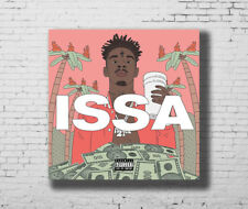 H564 Hot 21 Savage I am I was 2018 Rap Music Cover New Album Poster Art Decor