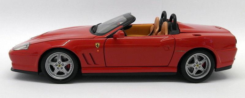 Hot wheels 1   18 skala druckguss - 25oct2017p ferrari 550 barchetta rote modell - auto