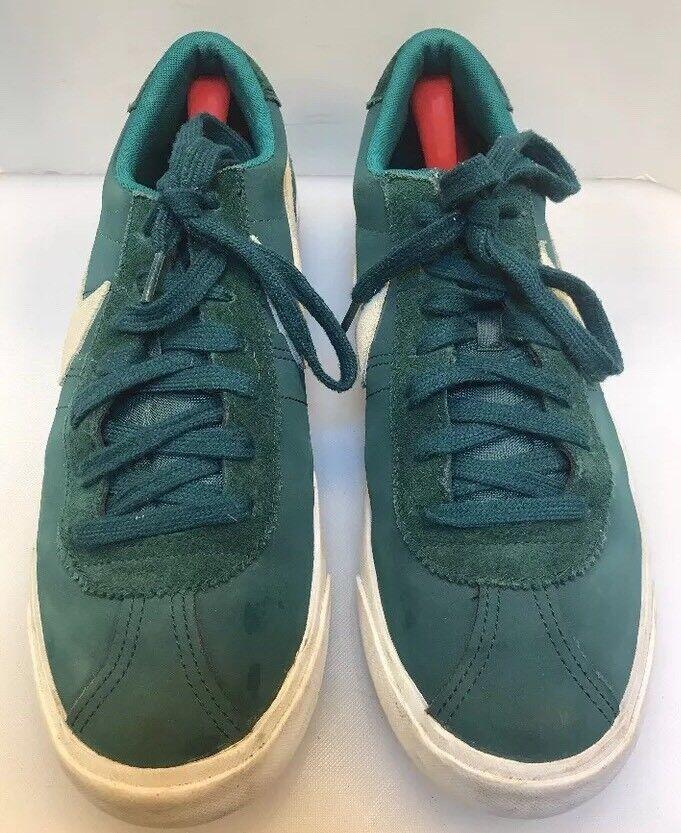 Nike Hombres 12 zapatos Bruin Low Suede zapatillas zapatos 12 de cuero verde 537332 300 8caeef