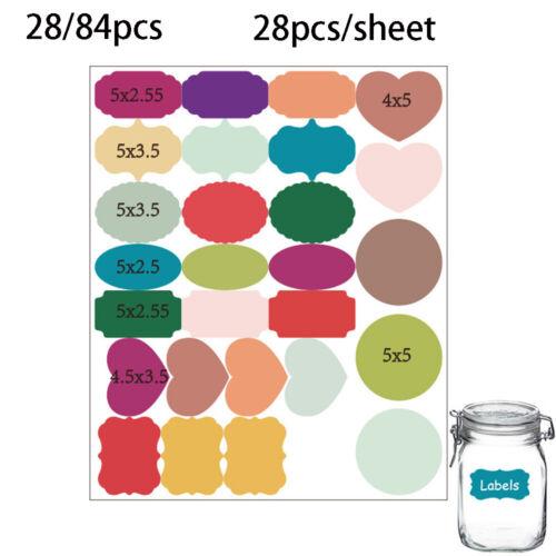 84Pcs цветной доска этикетки доски Кубок банка варенья этикетка настенные наклейки наклейки