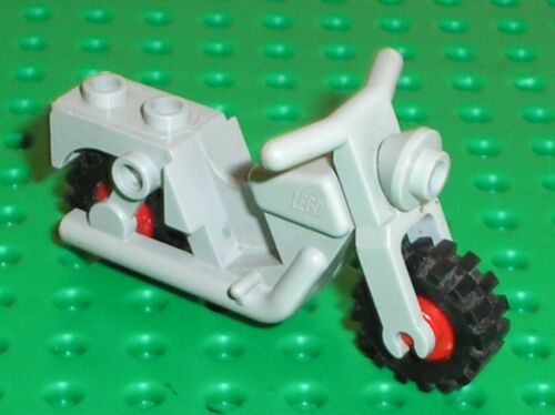 LEGO OldGray Moto Motorcycle Town with Red Wheels Ref x81c01 Set 1063 6654