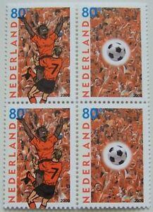 Netherlands-Block-of-4-Football-EK-2000-MNH