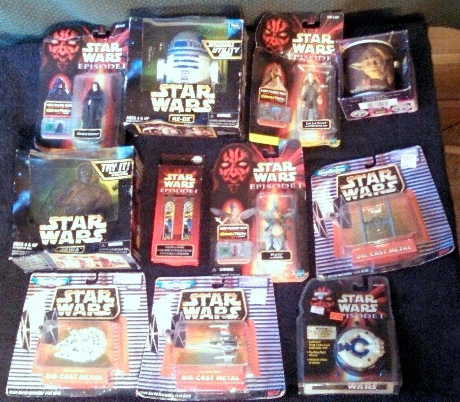 11 Artículos De Estrella Wars Yo-yo 66260 Jawa Tarro Watto Cuchara Falcon R2-D2 Micro Acción