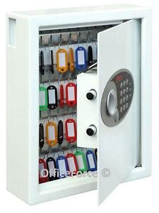 Heavy Duty Metal Key Cabinet Security Small Safe-Combination Lockable-48 Hooks © 5018102033449