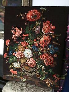 Tapisserie des années 70 bouquet hollandais style Jean Lurçat