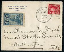 COVER - 1904 NY US Pavilion Paris Expo 1900 to US Senate Washington DC  - S7709