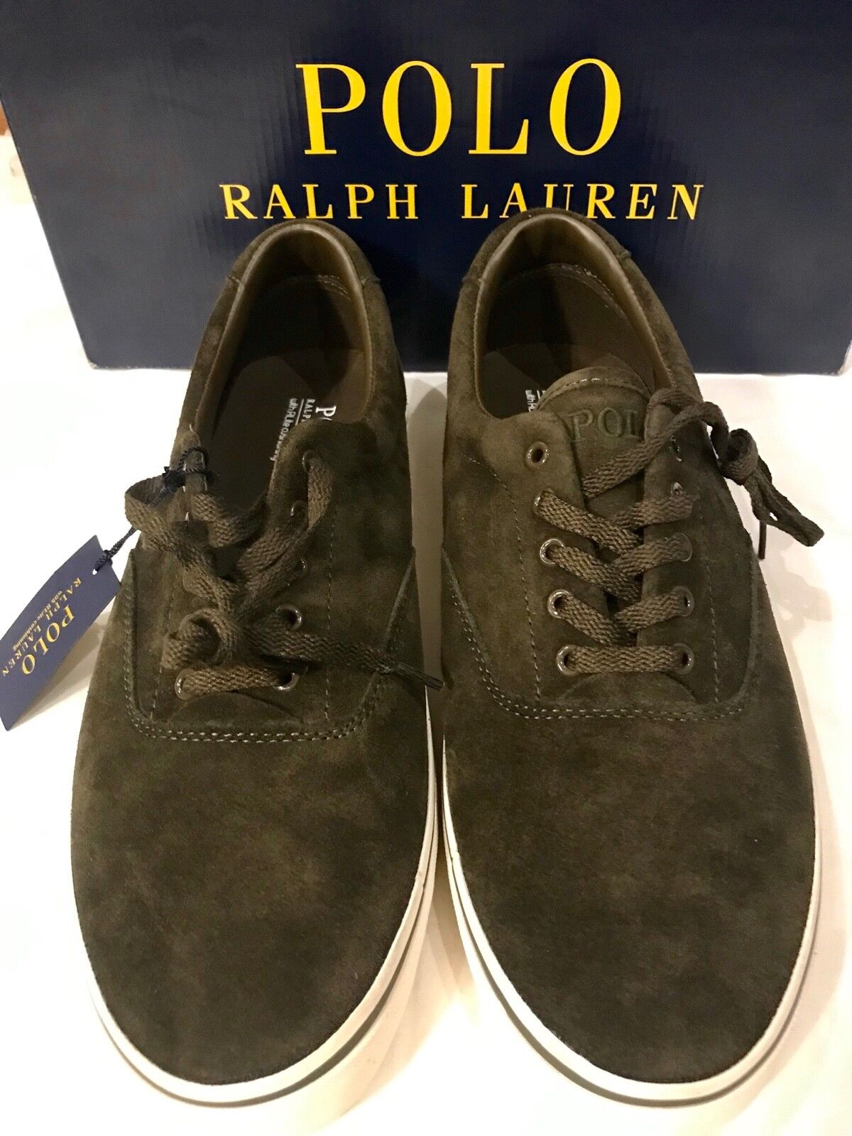 POLO RALPH LAUREN SILKY SUEDE GREEN SIZE  9