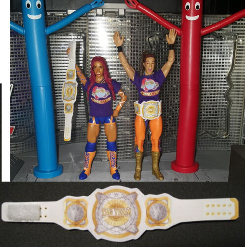 Boss Hug Connection Custom Shirts and WWE Tag Team Women/'s Titles NO FIGURES