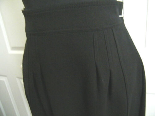 Details about  /ETRO md ITALY EUR 46 //12  BLACK RAYON,COTTON,WOOL BLEND FINE PLEAT STITCH FRONT