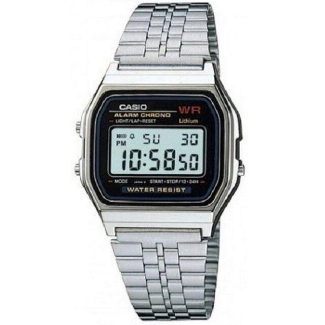 Casio A159WA-N1 Vintage Retro Silver Stainless Steel Digital Unisex Watch