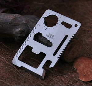 Multi-Pocket-Tools-11-in1-Hunting-Survival-Camping-Army-Credit-Card-Knife-Silver