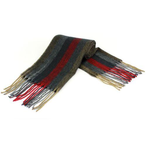 Mens Fine knit Striped Multi Colour Scarf NEW Gift Idea  25172