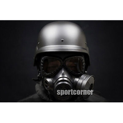 M88 helmet & Tactical gas masks paragraph Fan Protective Mask two items airsoft