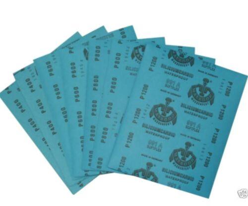 Wasserschleifpapier 10 x P1000  Autolack 230x280mm Schleifpapier