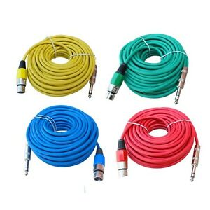 4 color 50 ft 1 4 trs to 3pin xlr female microphone mic extension snake cable 817375013166 ebay. Black Bedroom Furniture Sets. Home Design Ideas