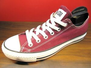 Details about New Converse Chuck Taylor All Star Core Maroon Canvas Low Classic Shoes M9691