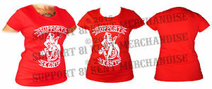 SUPPORT 81 KENT HELLS ANGELS ENGLAND Ladies Womens Girls T Shirt BIG RED MACHINE