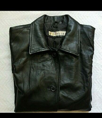 Veste Taille Noir Cuir En Femme Petite FqrgF0x