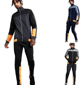 Mens-BC-King-Polyester-Tracksuit-Slim-Skinny-Fit-Joggers-Bottoms-Jumper-Gym-Top