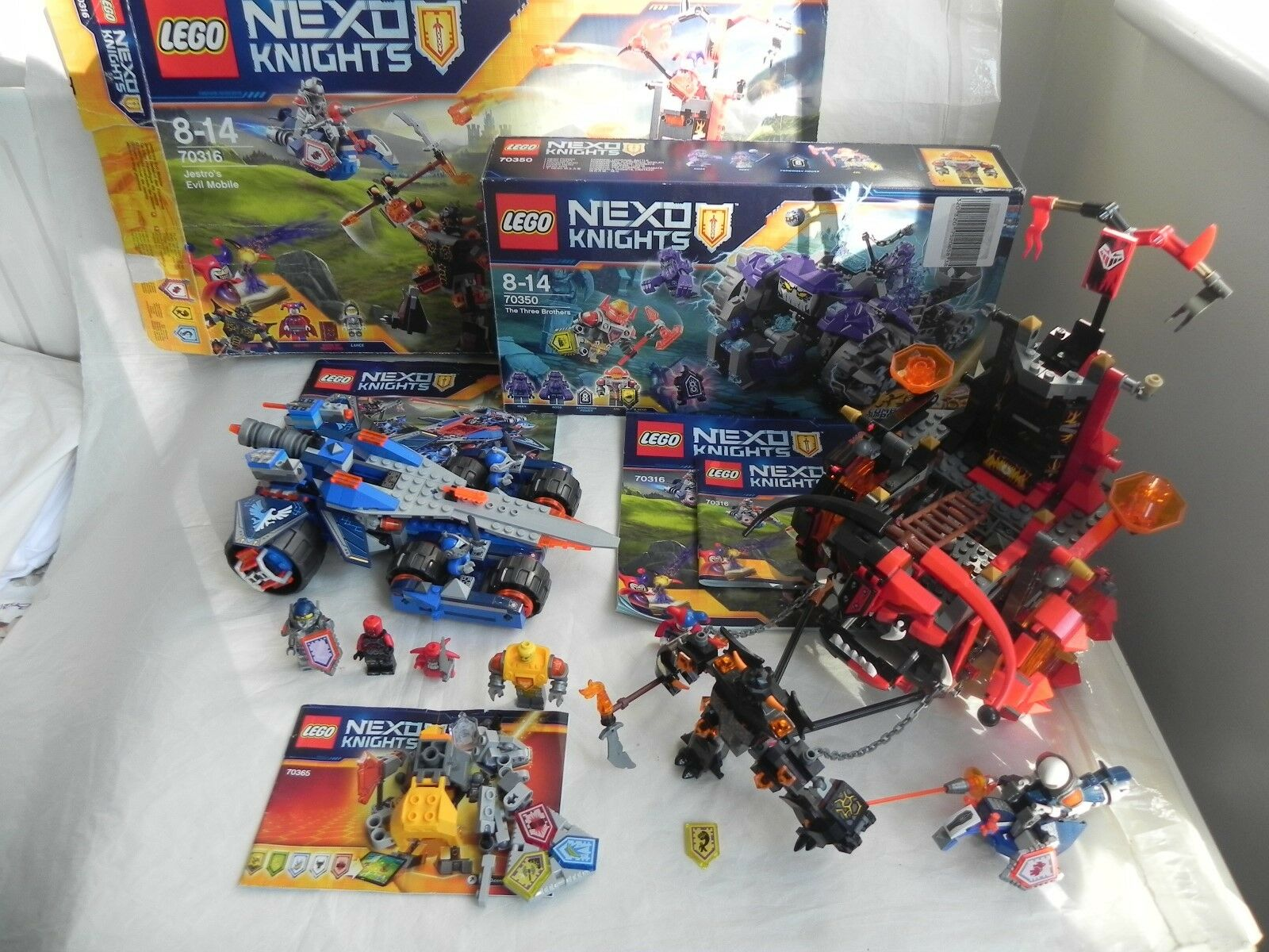 Lego Nexo Knights Bundle Lot 70315, 70316, 70350, 70365